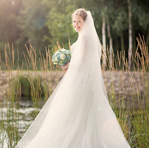 Image of Bride by Lake