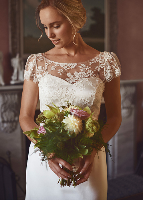 Image of bride model in dress